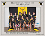 Counties Manukau  Rowing Club 2010/2011 Under 15 Boys Year 10 squad photo.
