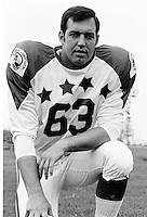 Ron Forwick 1970 Canadian Football League Allstar team. Copyright photograph Ted Grant