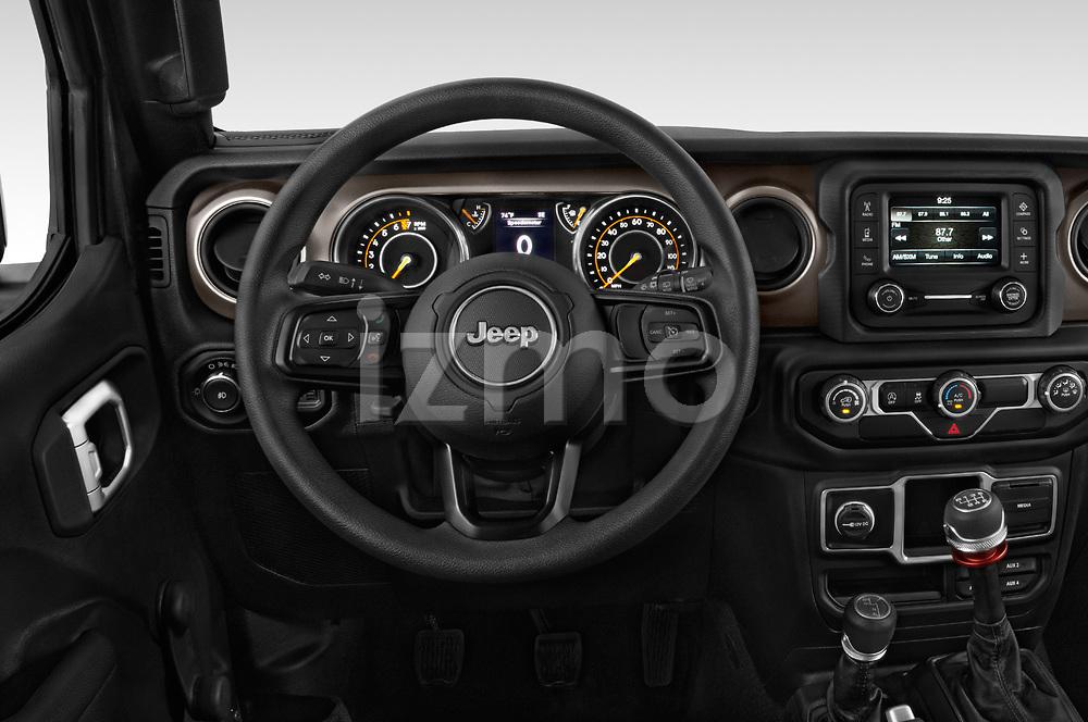 Car pictures of steering wheel view of a 2020 JEEP Wrangler Sport 3 Door SUV Steering Wheel