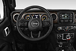 Car pictures of steering wheel view of a 2020 JEEP Wrangler Sport 3 Door SUV Steering Wheel
