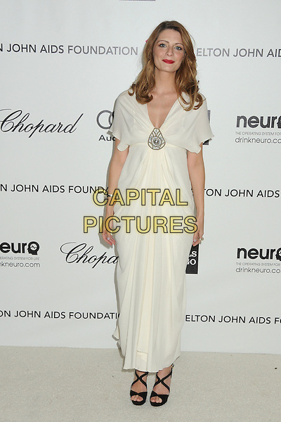 Mischa Barton.20th Annual Elton John Academy Awards Viewing Party held at West Hollywood Park, West Hollywood, California, USA..February 26th, 2012.oscars full length white dress black sandals shoes silver brooch .CAP/ADM/BP.©Byron Purvis/AdMedia/Capital Pictures.