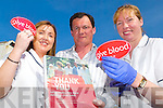 DONATING: Donor attendants from the Blood donation clinic Tracey Morgan (L) and Deborah Forde (R) helped Micheal Maher from O'Rahillys Villa's in Tralee to donate blood on Thursday afternoon in the KDYS in Tralee. .