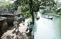 A village in Alleppey, Kerala, India.