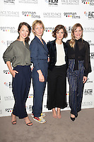 "Paula Beer, Sandra Huller, Liv Lisa Fries and Julia Jentsch <br /> at the London Film Festival 2016 premiere of ""Queen of Katwe"" at the Odeon Leicester Square, London.<br /> <br /> <br /> ©Ash Knotek  D3168  09/10/2016"