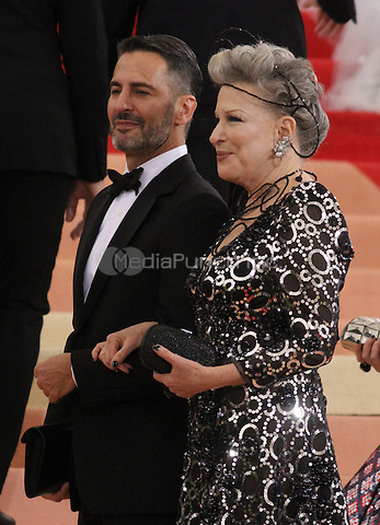 05 02 2016: Marc Jacobs, Bette Midler at Manus X Machina: Fashion In An Age of Technology at Metropolitan Museum of Art in New York. Credit:RWMediaPunch