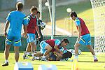 Shinji Kagawa, Shinji Okazaki (JPN), JUNE 4, 2014 - Football / Soccer : Japan's national soccer team Samurai Blue training session at Japan's team base camp in Itu Brazil. (Photo by Kenzaburo Matsuoka/AFLO) <br /> <br /> 10