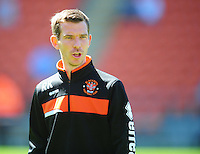 Blackpool First-Team Coach Richie Kyle during the pre-match warm-up <br /> <br /> Photographer Kevin Barnes/CameraSport<br /> <br /> Football - The EFL Sky Bet League Two - Blackpool v Exeter City - Saturday 6th August 2016 - Bloomfield Road - Blackpool<br /> <br /> World Copyright &copy; 2016 CameraSport. All rights reserved. 43 Linden Ave. Countesthorpe. Leicester. England. LE8 5PG - Tel: +44 (0) 116 277 4147 - admin@camerasport.com - www.camerasport.com
