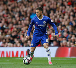 Eden Hazard of Chelsea in action during the English Premier League match at Old Trafford Stadium, Manchester. Picture date: April 16th 2017. Pic credit should read: Simon Bellis/Sportimage