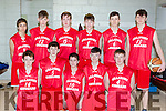 The Killarney Cougars team that played Glenbeigh Falcons in the Kery basketball finals in Killarney on Saturday front row l-r: Ruairi Murphy, Sean O'Brien, Joe Cahillane, Eoghan Myers, David Foley. Back row: Nykyta Puotkalis, Colm Talbot, David Hartnett, Eoin Talbot, Daniel Aleksejenko and Eoin O'Donnell