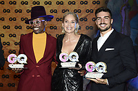 Billy Porter, Sharon Stone and Mariano Di Vaio at the 21st presentation of the GQ Men of the Year Awards 2019 at the Komische Oper. Berlin, November 7, .2019. Credit: Action Press/MediaPunch ***FOR USA ONLY***