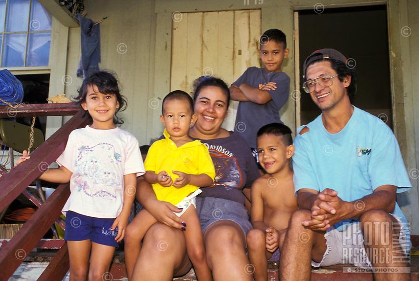 Local family, Big Island, Hawaii