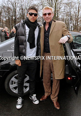 "BORIS BECKER AND SON N0AH.attend the Mercedes-Benz Fashion Week Autumn/Winter 2012,  Berlin_20/01/2012.Mandatory Credit Photo: NEWSPIX INTERNATIONAL..**ALL FEES PAYABLE TO: ""NEWSPIX INTERNATIONAL""**..IMMEDIATE CONFIRMATION OF USAGE REQUIRED:.Newspix International, 31 Chinnery Hill, Bishop's Stortford, ENGLAND CM23 3PS.Tel:+441279 324672  ; Fax: +441279656877.Mobile:  07775681153.e-mail: info@newspixinternational.co.uk"