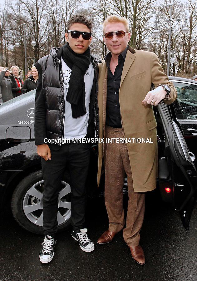 "BORIS BECKER AND SON N0AH.attend the Mercedes-Benz Fashion Week Autumn/Winter 2012,  Berlin_20/01/2012.Mandatory Credit Photo: NEWSPIX INTERNATIONAL..**ALL FEES PAYABLE TO: ""NEWSPIX INTERNATIONAL""**..IMMEDIATE CONFIRMATION OF USAGE REQUIRED:.Newspix International, 31 Chinnery Hill, Bishop's Stortford, ENGLAND CM23 3PS.Tel:+441279 324672  ; Fax: +441279656877.Mobile:  07775681153.e-mail: info@newspixinternational.co.uk"