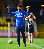 Lincoln City manager Danny Cowley urges the Lincoln City fans to get behind the players<br /> <br /> Photographer Andrew Vaughan/CameraSport<br /> <br /> The EFL Sky Bet League Two - Port Vale v Lincoln City - Saturday 14th April 2018 - Vale Park - Burslem<br /> <br /> World Copyright &copy; 2018 CameraSport. All rights reserved. 43 Linden Ave. Countesthorpe. Leicester. England. LE8 5PG - Tel: +44 (0) 116 277 4147 - admin@camerasport.com - www.camerasport.com