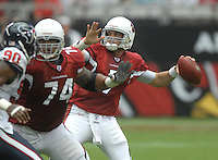 Aug 18, 2007; Glendale, AZ, USA; Arizona Cardinals quarterback Matt Leinart (7) passes the ball during the second quarter against the Houston Texans at University of Phoenix Stadium. Mandatory Credit: Mark J. Rebilas-US PRESSWIRE Copyright © 2007 Mark J. Rebilas