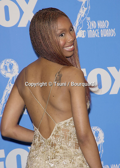 The 32th NAACP Image Awards - National Ass. for the Advancement of Colored People - was held at the Universal Amphitheatre in Los Angeles  23/1/2001          -            Brandy29.jpg