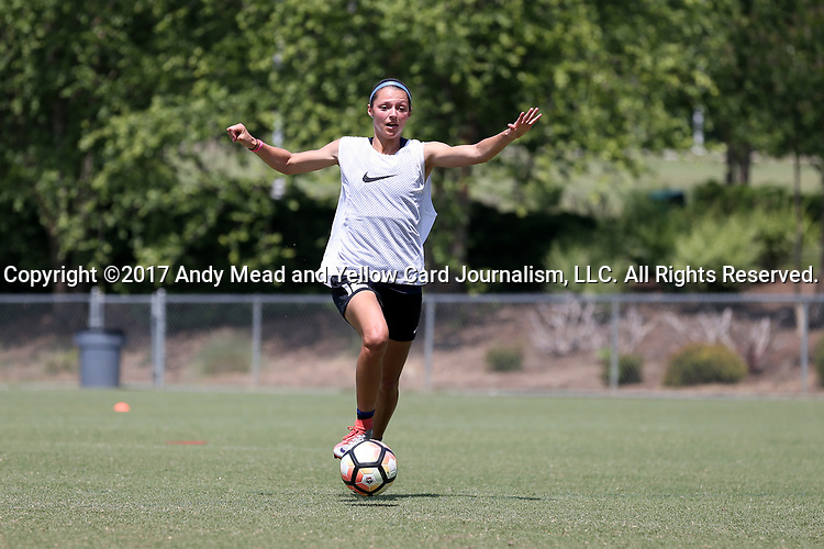 CARY, NC - MAY 10: Ashley Hatch. The North Carolina Courage held a training session on May 10, 2017, at WakeMed Soccer Park Field 7 in Cary, NC.