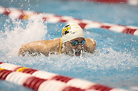 Courtney Beyers (University of Michigan) competing in the 100 Butterfly Preliminaries at the 2008 Women's Big Ten Swimming and Diving Championships, held as the Ohio State University's McCorkle Aquatic Center. Feb. 21st-23rd, 2008. Three Meter Prelims...