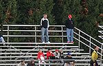 10 November 2007: Brian Johnson (center), assistant coach for Major League Soccer's Real Salt Lake, scouts the game. The Duke University Blue Devils defeated the North Carolina State University Wolfpack 2-0 at Method Road Soccer Stadium in Raleigh, North Carolina in an Atlantic Coast Conference NCAA Division I Men's Soccer game.