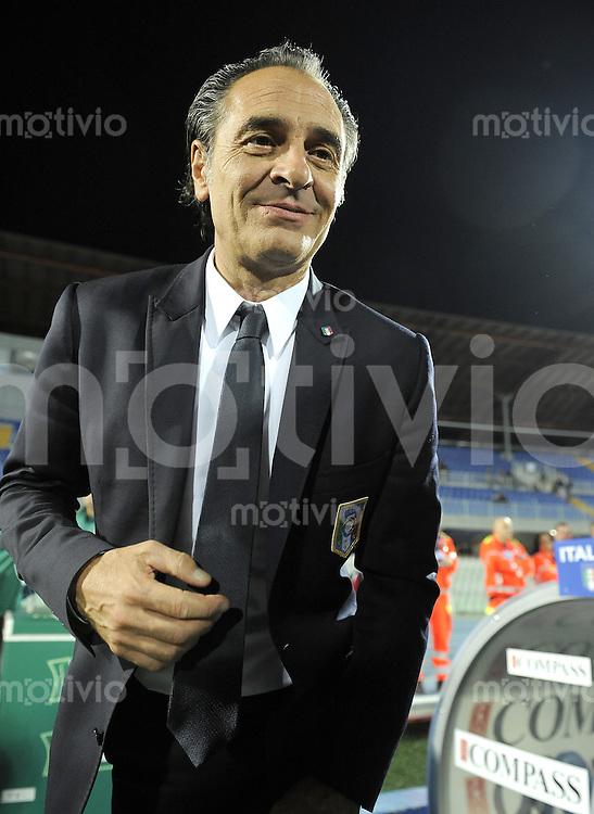 FUSSBALL INTERNATIONAL  Qualifikation Euro 2012  11.10.2011 Italien - Nordirland Trainer Cesare PRANDELLI (Italien)