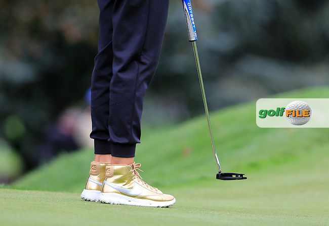 Michelle Wie (USA) on the 6th green during Friday's Round 2 of The 2016 Evian Championship held at Evian Resort Golf Club, Evian-les-Bains, France. 16th September 2016.<br /> Picture: Eoin Clarke | Golffile<br /> <br /> <br /> All photos usage must carry mandatory copyright credit (&copy; Golffile | Eoin Clarke)