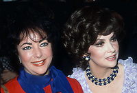 #ElizabethTaylor #GinaLollobrigida 1981<br /> Photo By Adam Scull/PHOTOlink.net