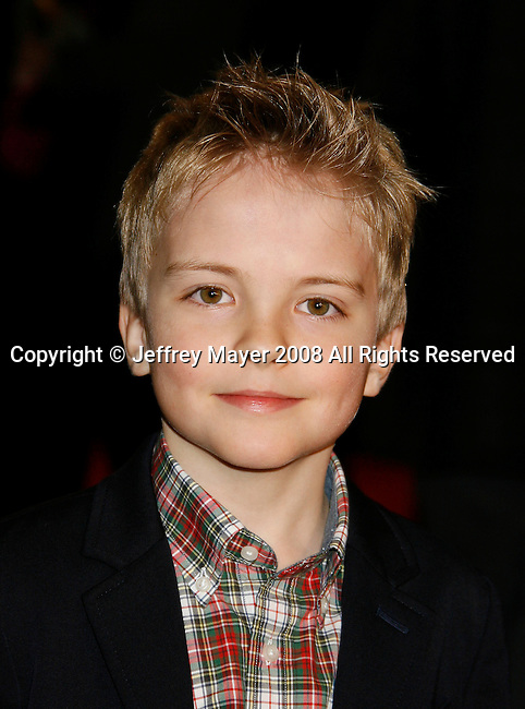 """WESTWOOD, CA. - December 11: Actor Bryce Robinson arrives at the Los Angeles premiere of """"Marley & Me"""" at  Mann's Village Theater on December 11, 2008 in Los Angeles, California."""