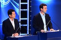 ATENCAO EDITOR: FOTO EMBARGADA PARA VEICULOS INTERNACIONAIS. - RIO DE JANEIRO, RJ, 05 DE SETEMBRO 2012 - ELEICOES 2012-DEBATE REDE TV -Otavio Leite do PSDB e Marcelo Freixo do PSOL no debate eleitoral com os candidatos a Prefeito do Rio de Janeiro no Clube Monte Líbano, na Gavea, na zona sul do Rio de Janeiro.(FOTO: MARCELO FONSECA / BRAZIL PHOTO PRESS).
