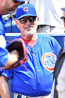 Chicago Cubs manager Joe Maddon (70) before a game against the Atlanta Braves at Turner Field on June 11, 2016 in Atlanta, Georgia. The Cubs defeated the Braves 8-2. (Tony Farlow/Four Seam Images)