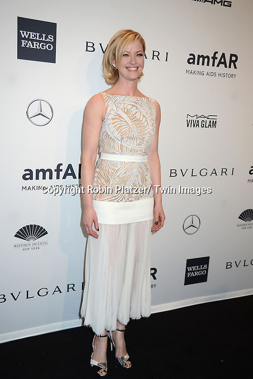 Gretchen Mol attends the amfAR New York Gala on February 5, 2014 at Cipriani Wall Street in New York City.