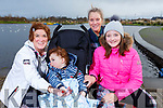 Grace and Hugh O'Donnell, Jodie Moore and Lisa Martin ready for a stroll at the Tralee Bay Wetlands on Saturday.