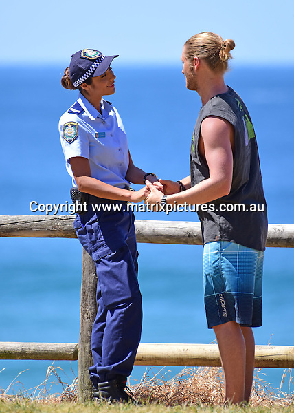 12 October 2016 SYDNEY AUSTRALIA<br /> WWW.MATRIXPICTURES.COM.AU<br /> <br /> EXCLUSIVE PICTURES<br /> Home &amp; Away filming at Palm Beach with George Mason and Pia Miller on 12 October 2016 .<br /> <br /> *No internet without clearance*.<br /> <br /> MUST CALL PRIOR TO USE <br /> <br /> +61 2 9211-1088. <br /> <br /> Matrix Media Group.Note: All editorial images subject to the following: For editorial use only. Additional clearance required for commercial, wireless, internet or promotional use.Images may not be altered or modified. Matrix Media Group makes no representations or warranties regarding names, trademarks or logos appearing in the images.