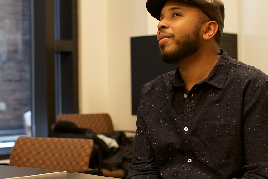 Justin Simien, director of the film Dear White People, visited Emerson College to talk about his film.