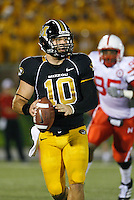 MU quarterback Chase Daniel passes for 401 yards and two touchdowns and runs for 72 yards and another two TD's against the Nebraska Cornhuskers at Memorial Stadium in Columbia, Missouri on October 6, 2007. The Tigers won 41-6.