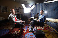 New York, NY - Friday, May 30, 2014: USMNT media day in New York City. ESP interview.