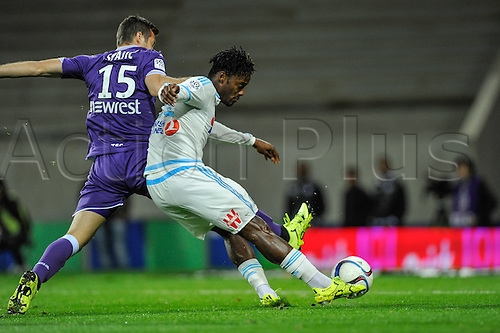 23.09.2015. Toulouse, France. French League 1 football. Toulouse versus Marseille.  Goal scored by Michy Batshuayi (om)