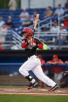 Batavia Muckdogs first baseman Angel Reyes (30) at bat during a game against the Williamsport Crosscutters on August 29, 2015 at Dwyer Stadium in Batavia, New York.  Williamsport defeated Batavia 7-3.  (Mike Janes/Four Seam Images)