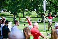Fabrizio Zanotti (PAR) watches his tee shot on 11 during Saturday's round 3 of the World Golf Championships - Bridgestone Invitational, at the Firestone Country Club, Akron, Ohio. 8/5/2017.<br /> Picture: Golffile | Ken Murray<br /> <br /> <br /> All photo usage must carry mandatory copyright credit (&copy; Golffile | Ken Murray)
