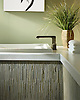 Tatami custom mosaic tub surround in Kay's Green and Chartreuse marble