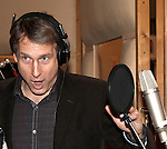 Gregg Edelman recording the 2012 Original Broadway Cast Recording of 'The Mystery of Edwin Drood' at the KAS Music & Sound Studios in Astoria, New York on December 10, 2012