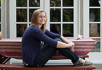 Photos of Emily Rueter '15 for Occidental Magazine. Taken Aug. 12, 2011 at her home. (Photo by Marc Campos, Occidental College Photographer)