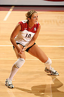 8 October 2005: Kristin Richards during Stanford's 3-1 loss to Washington at Maples Pavilion in Stanford, CA.
