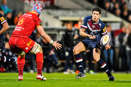 29.03.2014. Bordeaux, France. Top 14 rugby Union. Bordeaux versus Perpignan.  Pierre BERNARD (ubb)