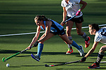 Anita McLaren (punt). Action during the Auckland Intercity Women's top four Hockey match between Howick-Pakuranga and Somerville, Lloyd Elsmore Park, Auckland, New Zealand. Saturday 5 August 2017. Photo:Simon Watts / www.bwmedia.co.nz