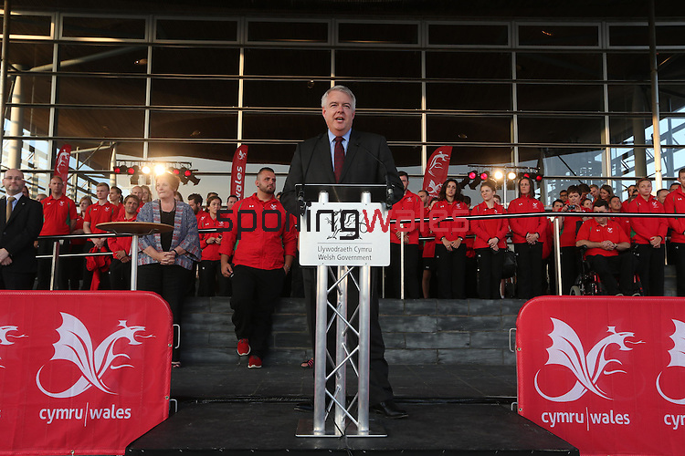 Glasgow 2014 Comonwealth Games<br /> Team Wales reception<br /> Senedd<br /> 10.09.14<br /> &copy;Steve Pope-SPORTINGWALES