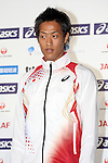 Seito Yamamoto (JPN), <br /> JUNE 10, 2013 - Athletics : Athletics Japan National Team Press Conference for the IAAF World Championships 2013 Moscow at Akasaka Sacas Gallery in Tokyo, Japan. <br /> (Photo by AFLO SPORT)