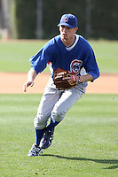 Robert Whitenack of the Chicago Cubs participates in spring training workouts at the Cubs complex on March 6, 2011  in Mesa, Arizona. .Photo by:  Bill Mitchell/Four Seam Images.