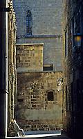 Spain. Barcelona. Barrio Gotico. Gothic Quarter. Near the Cathedral..