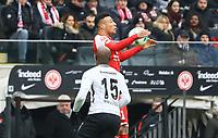Karim Onisiwo (1. FSV Mainz 05) gegen Jetro Willems (Eintracht Frankfurt) - 17.03.2018: Eintracht Frankfurt vs. 1. FSV Mainz 05, Commerzbank Arena