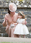 20.05.2017; Englefield, UK: PRINCE GEORGE AND PRINCESS CHARLOTTE<br /> It was both a moment of tears and joy for Princess Charlotte and Prince George who were flowergirl and page boy respectively at aunt Pippa Middleton's Wedding to James Mathews at St Mark's Church, Englefield.<br /> Also present at the church service were the Duke and Duchess of Cambridge, Prince Harry and Princess Eugenie.<br /> Mandatory Photo Credit: &copy;Francis Dias/NEWSPIX INTERNATIONAL<br /> <br /> IMMEDIATE CONFIRMATION OF USAGE REQUIRED:<br /> Newspix International, 31 Chinnery Hill, Bishop's Stortford, ENGLAND CM23 3PS<br /> Tel:+441279 324672  ; Fax: +441279656877<br /> Mobile:  07775681153<br /> e-mail: info@newspixinternational.co.uk<br /> Usage Implies Acceptance of OUr Terms &amp; Conditions<br /> Please refer to usage terms. All Fees Payable To Newspix International